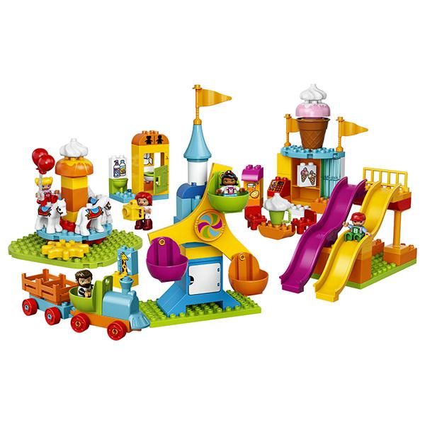 LEGO DUPLO 10840 Конструктор Лего Дупло Большой парк аттракционов