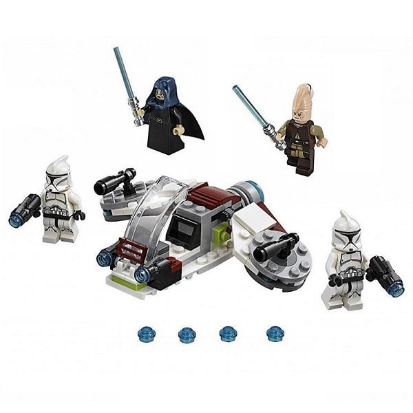 Lego Star Wars 75206 Конструктор Лего Звездные Войны Боевой набор Джедаев и Клонов-Пехотинцев