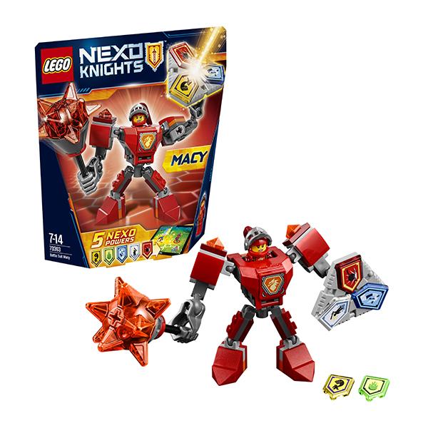 Lego Nexo Knights 70363 Конструктор Лего Нексо Боевые доспехи Мэйси ластики lego набор ластиков 4 шт lego nexo knights рыцари нексо