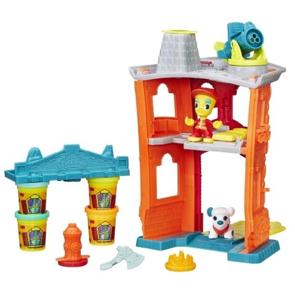 Hasbro Play-Doh B3415 Игровой набор Пожарная станция hasbro игровой набор магазинчик домашних питомцев play doh город