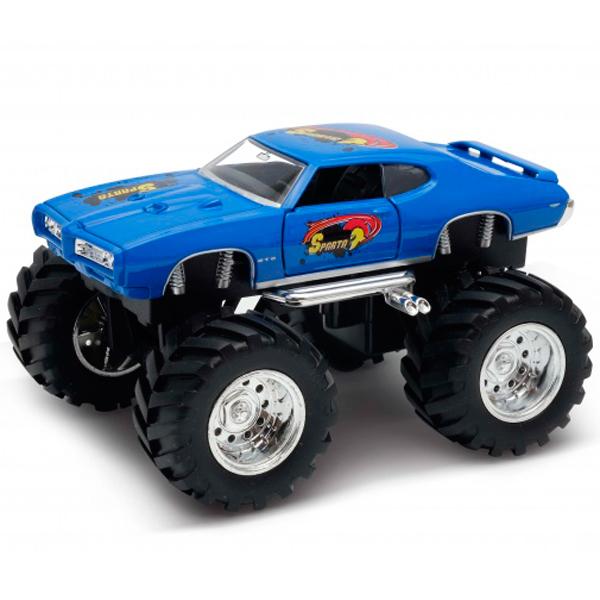 Фото - Welly 47008S Велли Модель машины 1:34-39 Pontiac GTO Wheel Monster игрушка модель машины 1 34 39 chevrolet tahoe big wheel monster