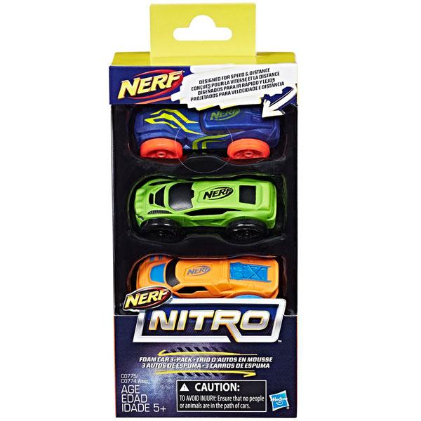 Hasbro Nerf Nitro C0774 Нерф Нитро машинки 3 шт