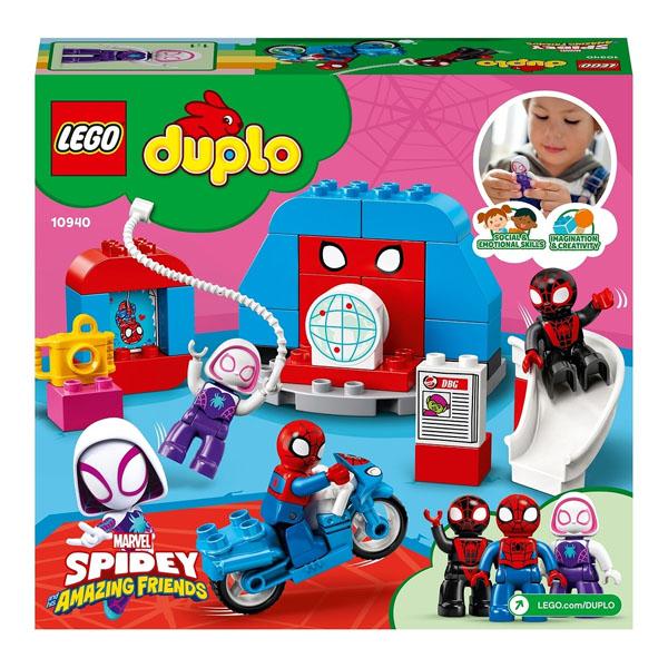 LEGO DUPLO 10940 Конструктор ЛЕГО ДУПЛО Super Heroes Штаб-квартира Человека-паука