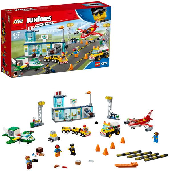 Lego Juniors 10764 Конструктор Лего Джуниорс Городской аэропорт lego juniors 10765 конструктор лего джуниорс подводный концерт ариэль