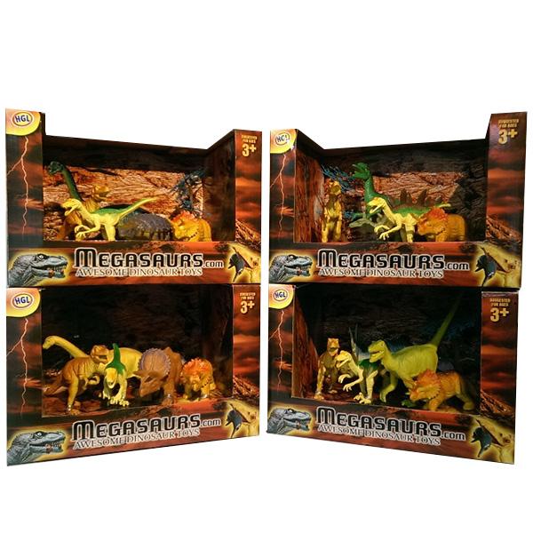 Megasaurs SV12926 Мегазавры Игровой набор динозавров (5 дино+дерево) (в ассортименте) игровые фигурки happy kin набор динозавров 41093
