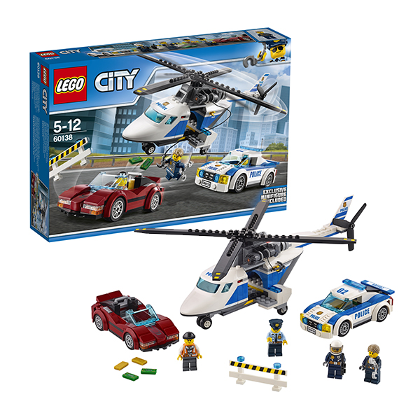 Lego City 60138 Конструктор Лего Город Стремительная погоня рация