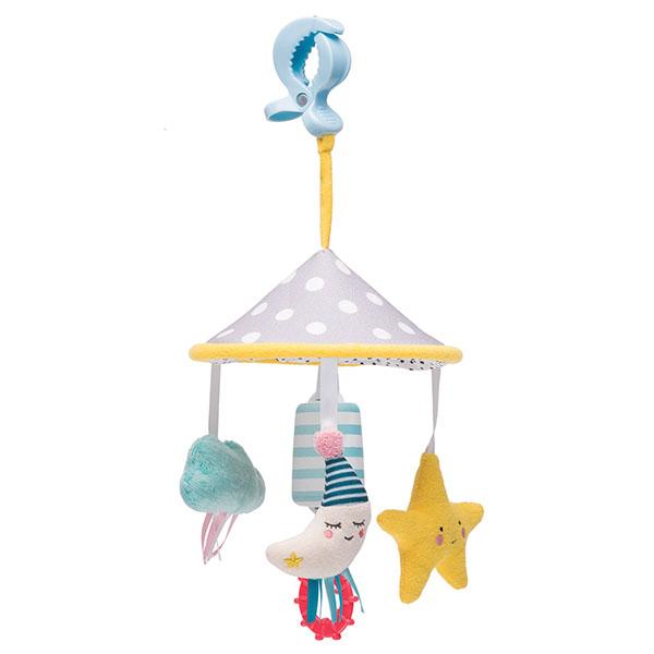 Taf Toys 12095 Таф Тойс Развивающая подвеска Луна на клипсе taf toys развивающая игрушка подвеска taf toys воздушный шар на клипсе