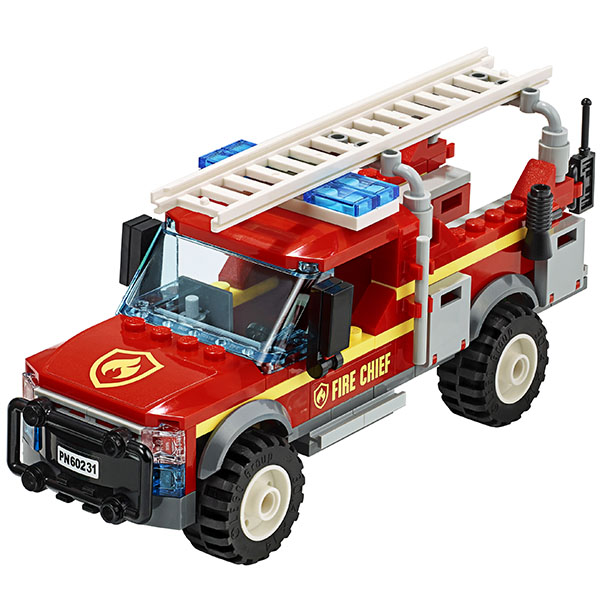 LEGO City 60231 Конструктор ЛЕГО Грузовик начальника пожарной охраны