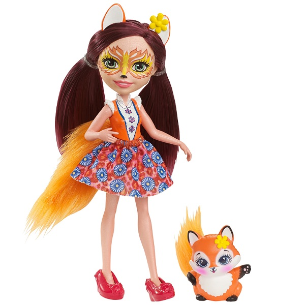 Mattel Enchantimals DVH89 Кукла Фелисити Лис, 15 см enchantimals пазл 64 магнитик фелисити лис и флик 03554