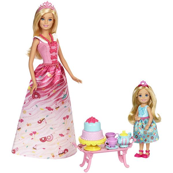 Mattel Barbie FDJ19 Барби Игровой набор Чаепитие в Сладкограде barbie серебристо розовое платье с аксессуарами барби