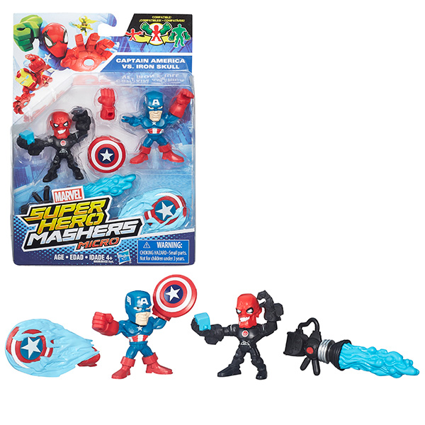 Hasbro Avengers B6432 Марвел микро фигурки 2-в-1