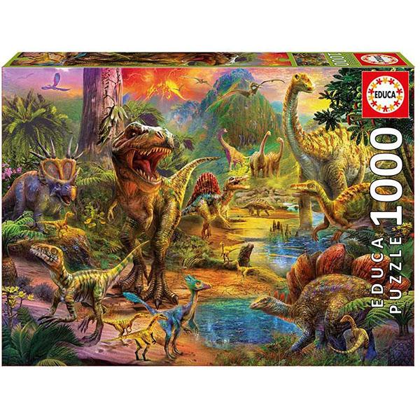 """Educa 17655 Пазл 1000 деталей """"Земля динозавров"""""""