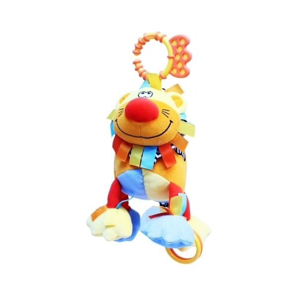 Фото - ROXY-KIDS RBT20003 Игрушка развивающая Львенок Бьонс со звуком roxy kids rbt20014 игрушка развивающая слоненок сквикер пищалка внутри размер 18 см