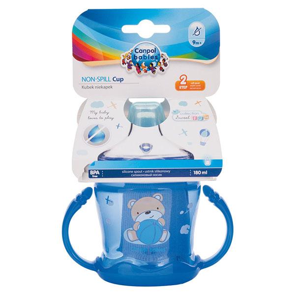 Canpol babies 250989258 Чашка-непроливайка sweet fun 180 мл,голубая