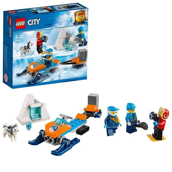 Lego City 60191 Конструктор Лего Город Арктическая экспедиция Полярные исследователи lego city 60149 лего город внедорожник с прицепом для катамарана