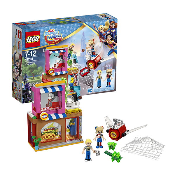Lego Super Hero Girls 41231 Конструктор Лего Супергёрлз Харли Квинн спешит на помощь конструктор lego super hero girls харли квинн спешит на помощь 217 элементов 41231