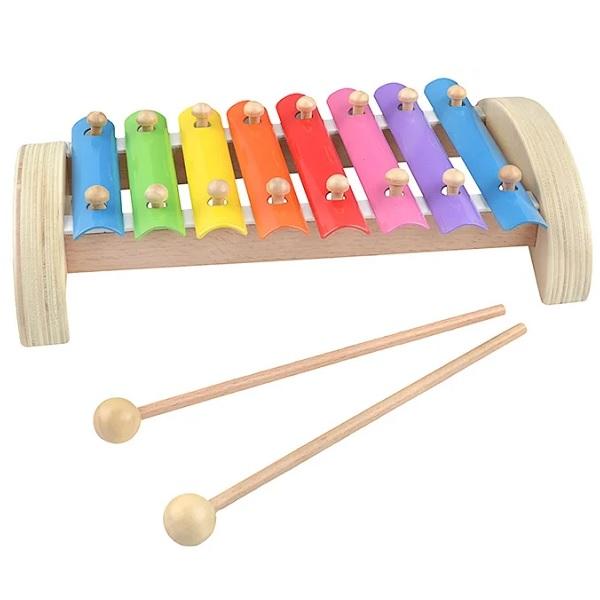 Игрушки из дерева D379 Ксилофон 8 тонов (металлический)