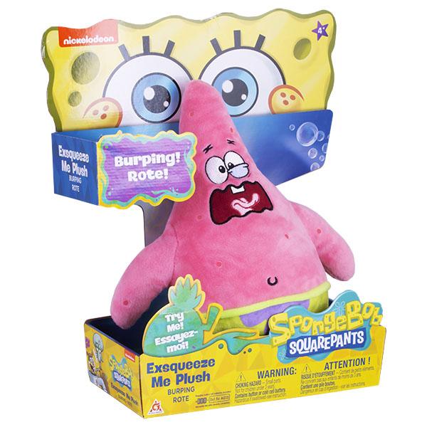 SpongeBob EU690903 Плюшевый Патрик (со звук. эффектами,рыгает,20 см)