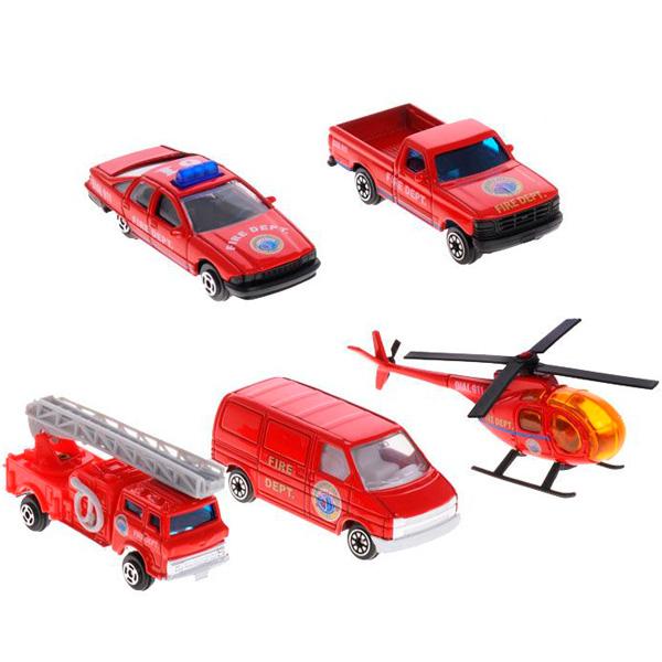 Welly 97506B Велли Игровой набор Пожарная команда 5 шт welly набор машинок пожарная служба 3 шт