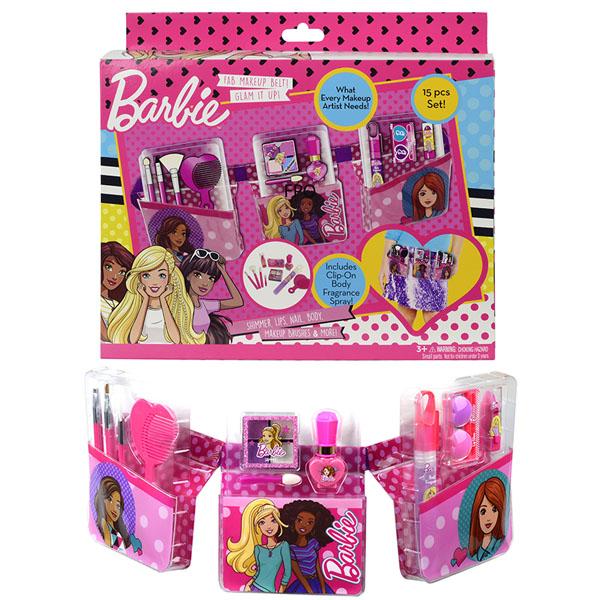 Markwins 9709151 Barbie Игровой набор детской декоративной косметики с поясом визажиста игровой набор детской декоративной косметики markwins monster high с поясом визажиста 9706551