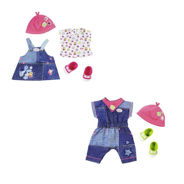 Zapf Creation Baby born 824-498 Бэби Борн Одежда Джинсовая коллекция куклы и одежда для кукол zapf creation baby born детское питание 12 пакетиков