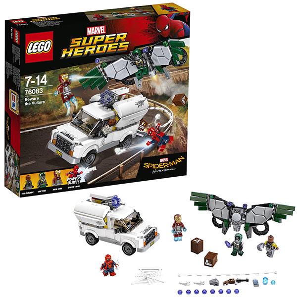 Lego Super Heroes 76083 Конструктор Лего Супер Герои Берегись Стервятника lego super heroes 76058 лего супер герои человек паук союз с призрачным гонщиком