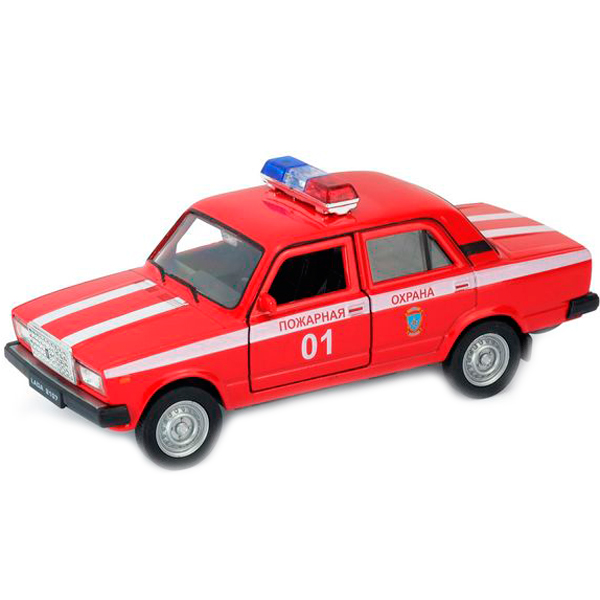 Welly 43644FS Велли модель машины 1:34-39 LADA 2107 ПОЖАРНАЯ ОХРАНА welly модель автомобиля lada vesta пожарная охрана