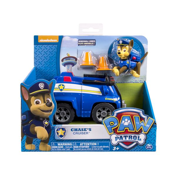 Paw Patrol 16601-Cha Щенячий патруль Машинка спасателя и щенок (Чейз) (в ассортименте)