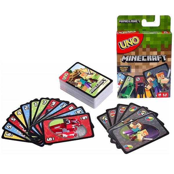 Mattel Uno FPD61 Карточная игра Уно Майнкрафт
