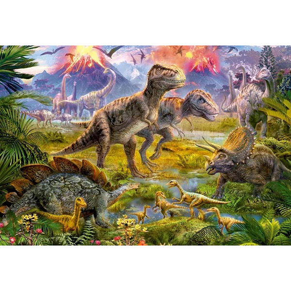 """цена на Educa 15969 Пазл 500 деталей """"Встреча динозавров"""""""