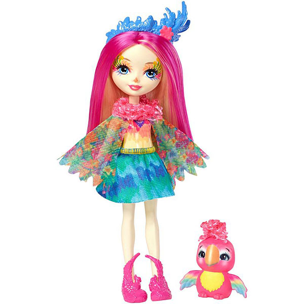 Mattel Enchantimals FJJ21 Кукла с любимой зверюшкой – Пикки Какаду mattel mattel кукла ever after high мишель мермейд