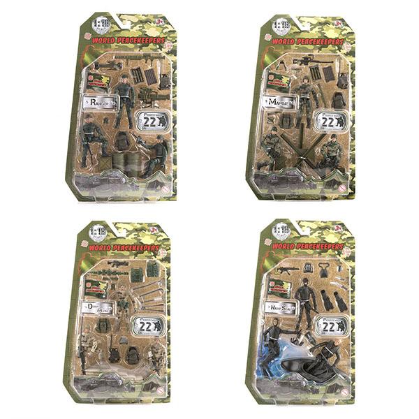 игровые фигурки World Peacekeepers MC77003 Игровой набор Отряд 3 фигурки, 1:18 (в ассортименте)