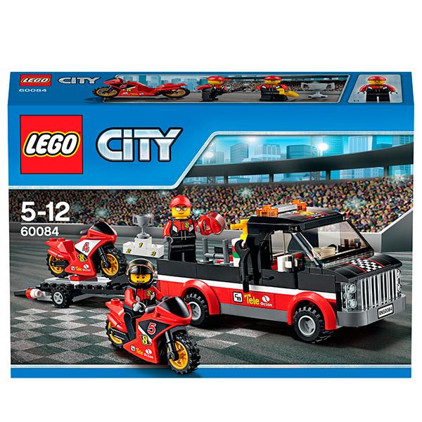 Lego City 60084 Конструктор Лего Город Перевозчик гоночных мотоциклов