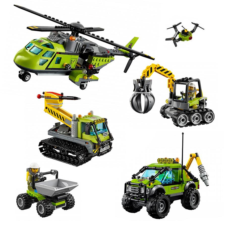 Спецтехника наборы конструкторов Лего Сити Исследователи вулканов