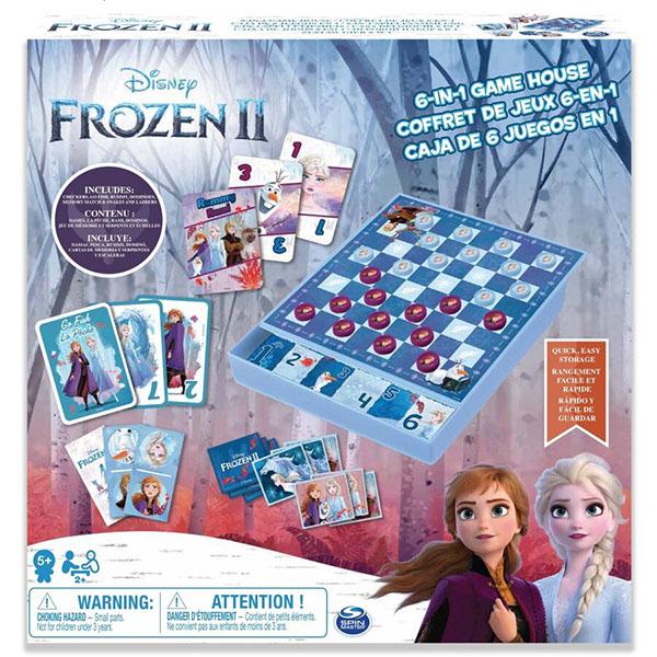 Spin Master 6053753 Спин Мастер Настольная игра Холодное сердце 6 в 1