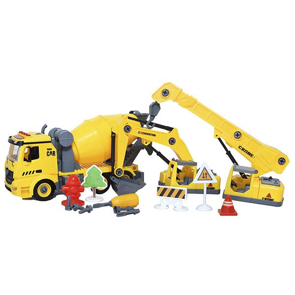 HK Industries YW9071 DIY Набор-конструктор строительной техники 3 в 1