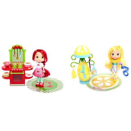 Игровой набор Strawberry Shortcake 12240 Шарлотта Земляничка Кукла 15 см и кафе салон, 2 в асс-те
