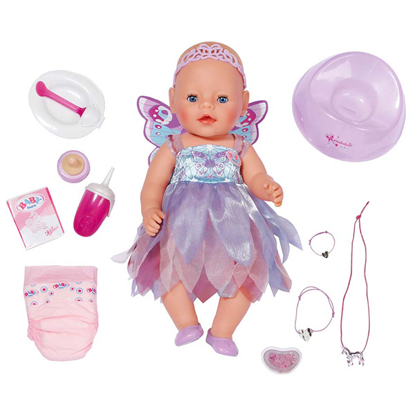 Zapf Creation Baby born 822-821 Бэби Борн Кукла Фея Интерактивная, 43 см