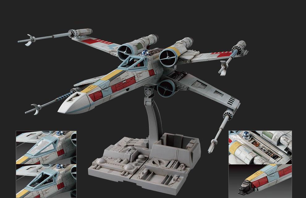 Star Wars Bandai 84610 Звездные Войны Сборная модель Истребитель X-Wing Fighter 1:72