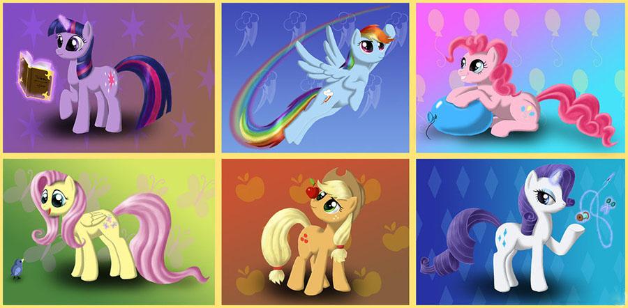 """My Little Pony C0681 Май Литл Пони """"Мерцание"""" Пони в волшебных платьях"""