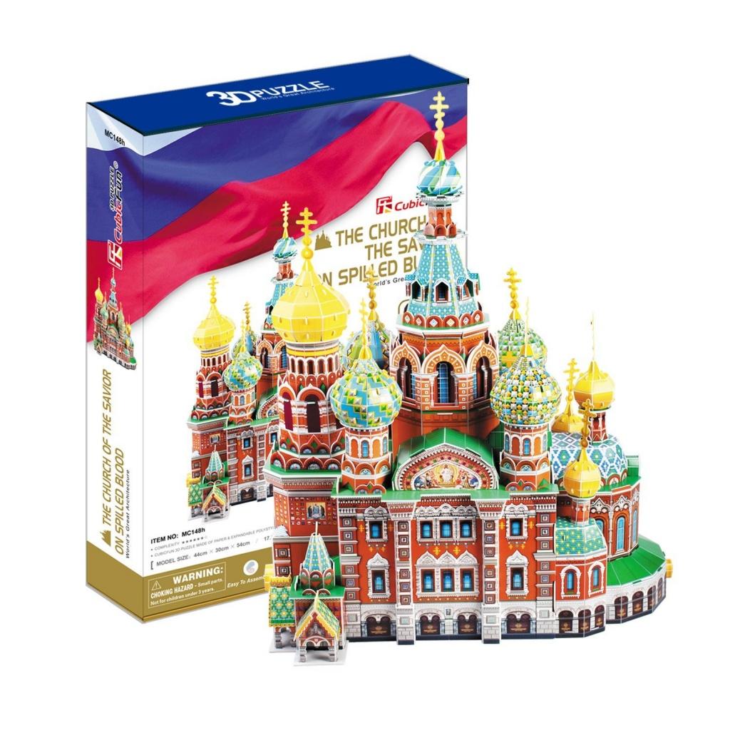 3D пазл Cubic Fun MC148h Собор Воскресения Христова (Россия)