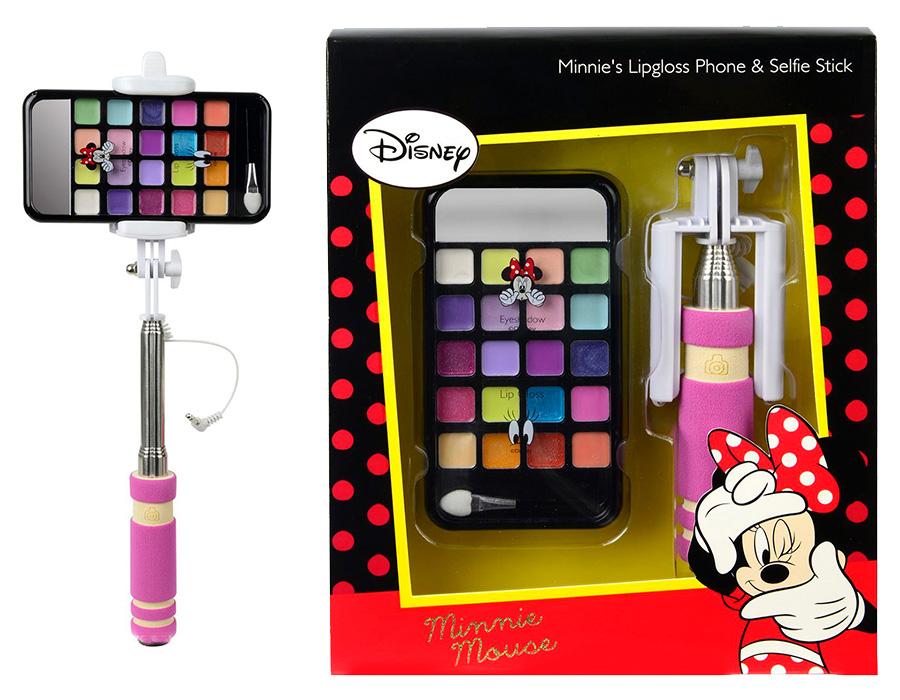 Markwins 9703351 Minnie Игровой набор детской декоративной косметики с селфи палкой