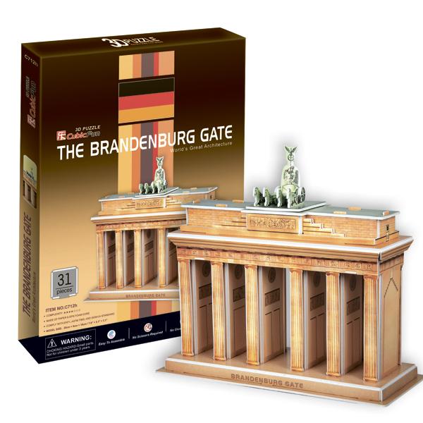 3D пазл Cubic Fun C712h Бранденбургские ворота (Берлин)