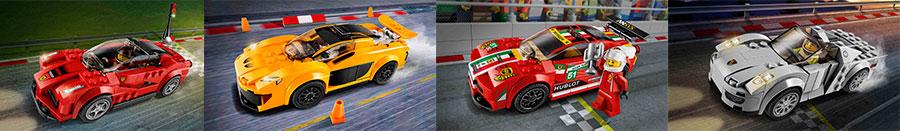 Наборы конструкторов: автомобиль серии GT 75899, 75909, 75910, 75908