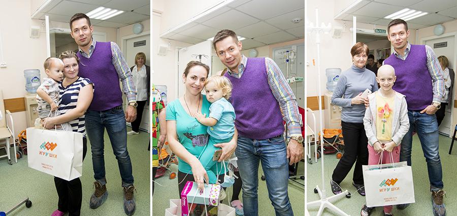 Стас Пьеха и TOY.RU в Морозовской больнице