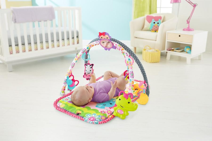 Fisher-Price DFP64 Фишер Прайс Развивающий коврик для девочек (розовый)