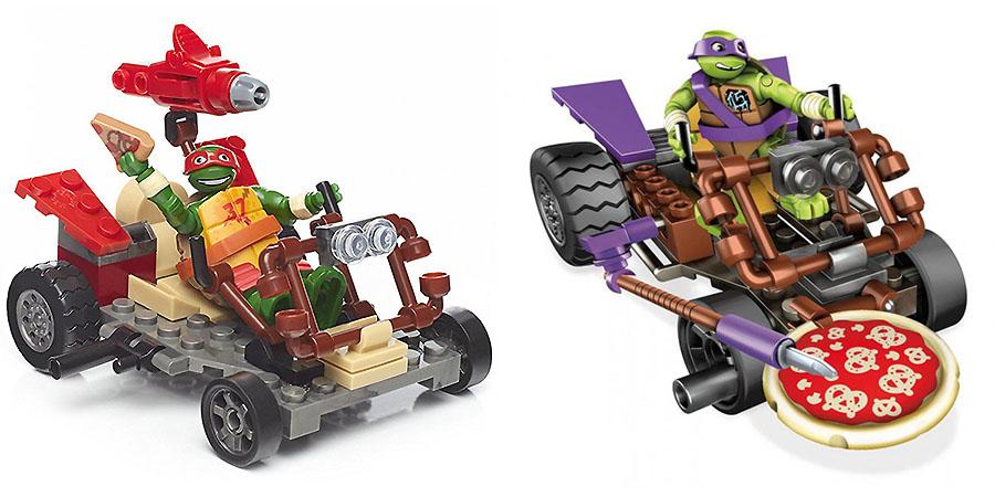 Mattel Mega Bloks DMX36 Мега Блокс Черепашки Ниндзя: лихие гонщики