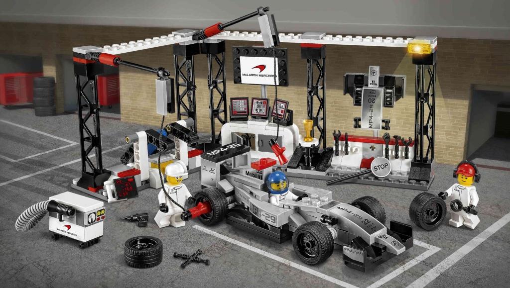 Конструктор Lego Speed Champions 75911 Лего Чемпионс Пункт техобслуживания Макларен Мерседес
