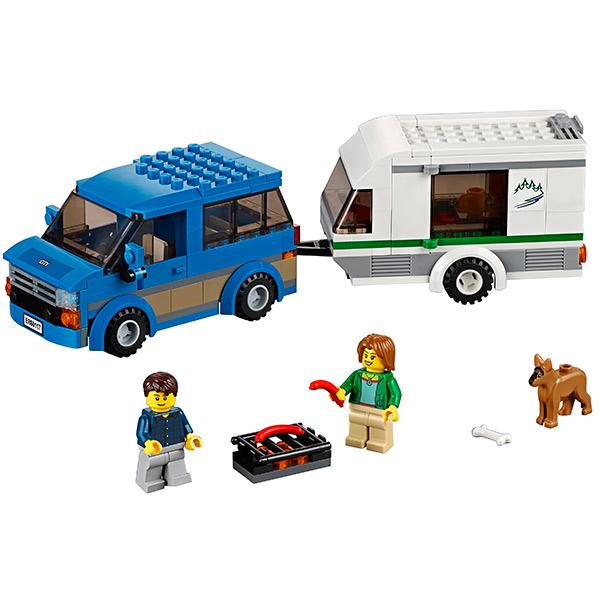Лего Город Фургон и дом на колёсах 60117