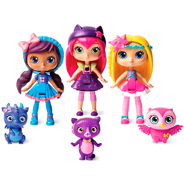 Little Charmers 71708 3 фигурки главных героинь с питомцами